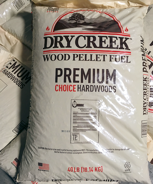 Dry Creek Premium Wood Pellets – Bagged Ton