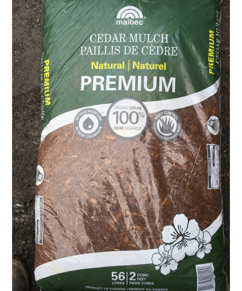 Natural Cedar Mulch – Bagged