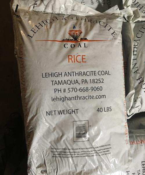 Lehigh Coal (Rice) – Bagged Ton