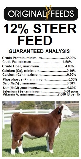 Original Feeds 12% Steer Feed (Non-GMO)