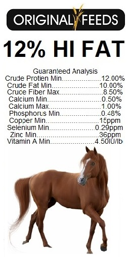 Original Feeds 12% Horse 10% Fat Textured Feed (Non-GMO)