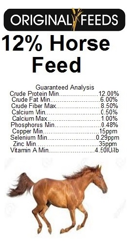 Original Feeds 12% Textured Horse Feed (Non-GMO)
