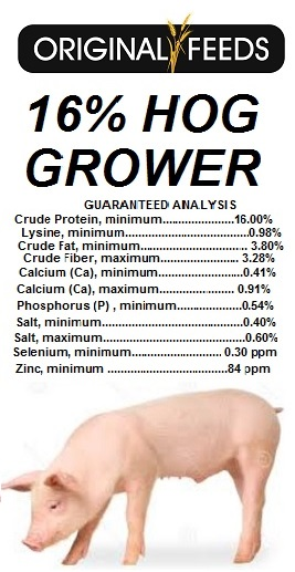 Original Feeds 16% Hog Grower (Non-GMO)