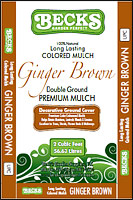 Ginger Brown Mulch- Bagged